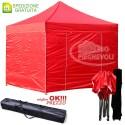 Gazebo EASY 3x3m - Rosso - pieghevole e portatile