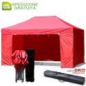 Gazebo EASY 4,5x3m - Rosso - pieghevole e portatile
