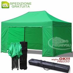 Gazebo EASY 4,5x3m - Verde - pieghevole e portatile