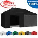 Gazebo EASY 6x3m - Nero - pieghevole e portatile