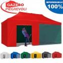 Gazebo EASY 6x3m - Rosso - pieghevole e portatile