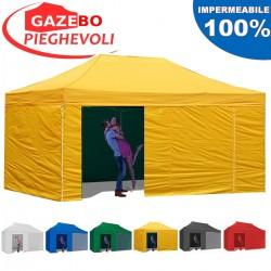 Gazebo EASY 6x3m - Giallo - pieghevole e portatile