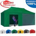 Gazebo EASY 6x3m - Verde - pieghevole e portatile