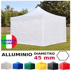 Gazebo ALLUMINIO 3x3m - 4,5x3m - 6x3m pieghevole