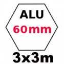 Gazebo 3x3m ALU 60