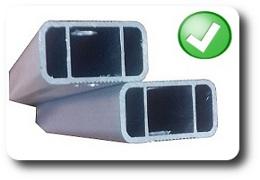 gazebo pieghevole con barre profili rinforzati