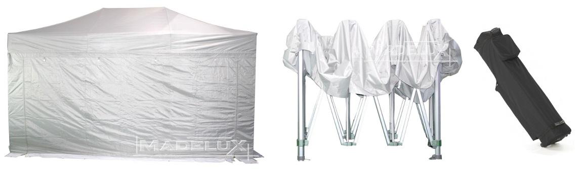 gazebo pieghevole portatile alluminio madelux